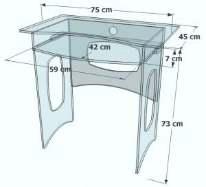 Bureau d'ordinateur en plexiglass - Devis sur Techni-Contact.com - 5