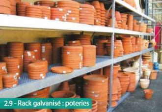 Rayonnage galvanisé pour poterie - Devis sur Techni-Contact.com - 1