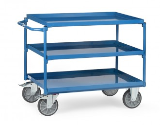Chariot à 3 plateaux avec rebord - Devis sur Techni-Contact.com - 1
