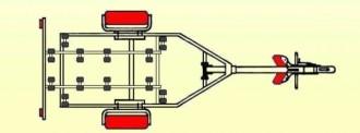 Remorque porte bateau à moteur 800 kg - Devis sur Techni-Contact.com - 3