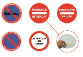 Panneau PVC rond adhésif diamètre 180 mm à 280 mm - Devis sur Techni-Contact.com - 6