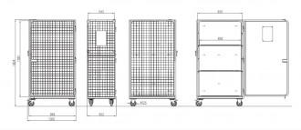Rack de stockage grillagé 4 côtés - Devis sur Techni-Contact.com - 2