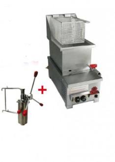 Friteuse chichi à gaz 6 litres - Devis sur Techni-Contact.com - 1