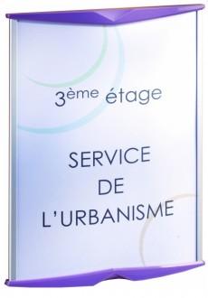 Porte carte mural signalétique - Devis sur Techni-Contact.com - 1