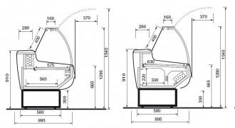 Vitrine comptoir produits frais - Devis sur Techni-Contact.com - 2