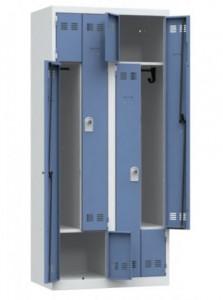Vestiaire de rangement métallique 4 casiers - Devis sur Techni-Contact.com - 1