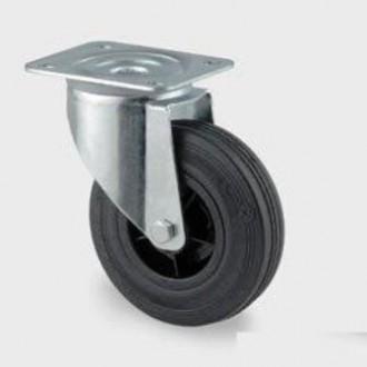 Roulette tournante caoutchouc - Devis sur Techni-Contact.com - 1