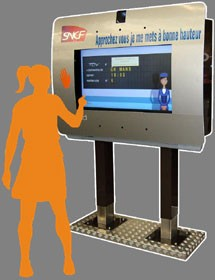 Borne interactive accessible - Devis sur Techni-Contact.com - 1