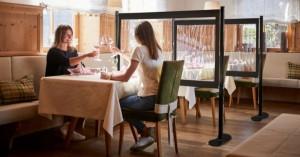 Cloison de protection café restaurant - Devis sur Techni-Contact.com - 1