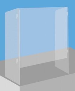 Vitre plexiglas pour comptoir - Devis sur Techni-Contact.com - 1