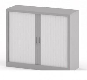Armoire basse de rangement bureau portes coulissantes - Devis sur Techni-Contact.com - 1