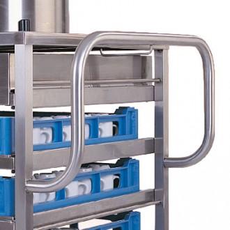 Chariot inox de cuisine pour paniers à vaisselle - Devis sur Techni-Contact.com - 2
