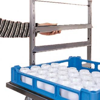 Chariot inox de cuisine pour paniers à vaisselle - Devis sur Techni-Contact.com - 3