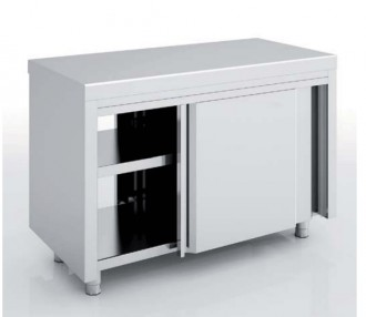 Meuble neutre traversant inox - Devis sur Techni-Contact.com - 1