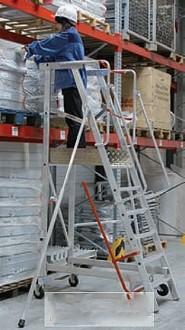 Escabeau roulant aluminium - Devis sur Techni-Contact.com - 4