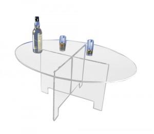 Table ovale démontable plexiglas - Devis sur Techni-Contact.com - 1
