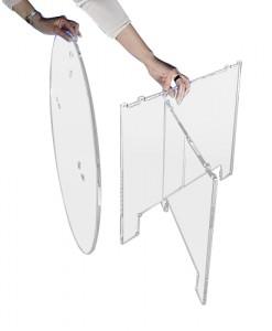Table ovale démontable plexiglas - Devis sur Techni-Contact.com - 2