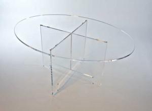Table ovale démontable plexiglas - Devis sur Techni-Contact.com - 3