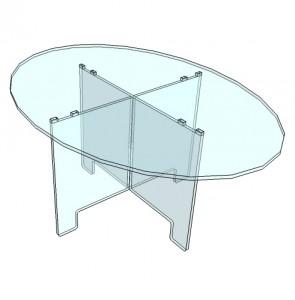 Table ovale démontable plexiglas - Devis sur Techni-Contact.com - 4