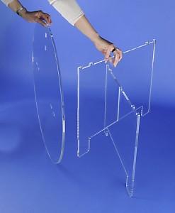 Table ovale démontable plexiglas - Devis sur Techni-Contact.com - 5