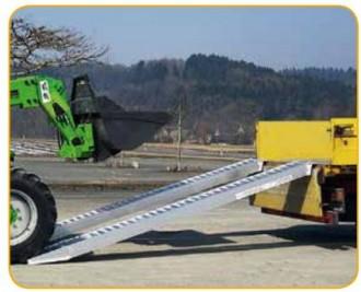 Rampe aluminium pour chargement engins - Devis sur Techni-Contact.com - 1