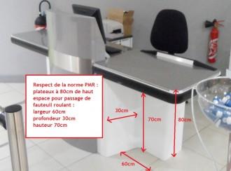 Meuble de caisse PMR - Devis sur Techni-Contact.com - 3
