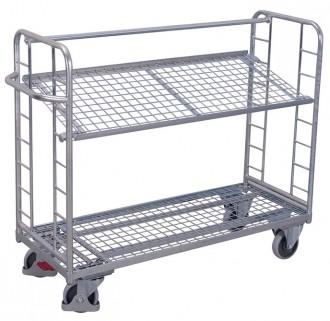 Chariots métalliques à plateaux inclinables - Devis sur Techni-Contact.com - 1
