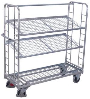Chariots métalliques à plateaux inclinables - Devis sur Techni-Contact.com - 2