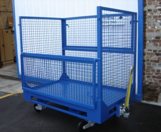 Chariot grillagé collecteur DIB - Devis sur Techni-Contact.com - 1