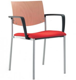 Chaise de conférence empilable quatre pieds - Devis sur Techni-Contact.com - 1