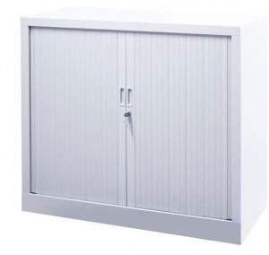 Armoire basse avec portes coulissantes à rideaux - Devis sur Techni-Contact.com - 1