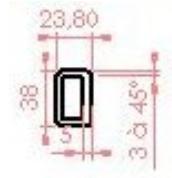 Tube rectangulaire en résine 6 ml - Devis sur Techni-Contact.com - 1
