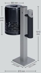 Cendrier corbeille 47 Litres - Devis sur Techni-Contact.com - 1