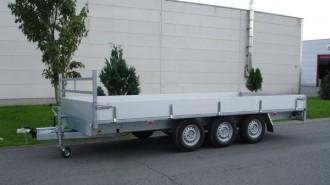 Remorque porte engin plateau 3 essieux - Devis sur Techni-Contact.com - 1