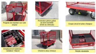 Chariot à plateau motorisation électrique - Devis sur Techni-Contact.com - 4