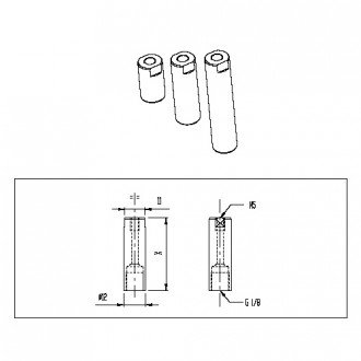 Tube aluminium Longueur 20à40mm - Devis sur Techni-Contact.com - 1