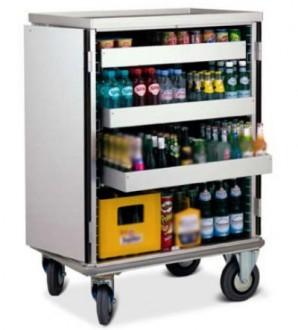 Chariot mini bar à porte rabattables - Devis sur Techni-Contact.com - 2
