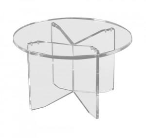 Table ronde piètement croix plexiglas - Devis sur Techni-Contact.com - 1