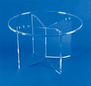 Table ronde piètement croix plexiglas - Devis sur Techni-Contact.com - 2