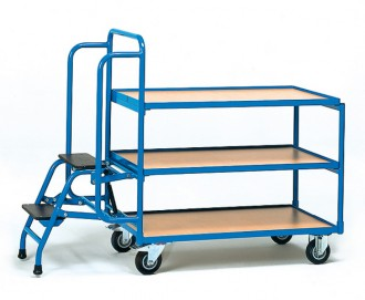 Chariot préparateur de commande à 3 plateaux - Devis sur Techni-Contact.com - 1