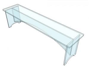 Banc plexiglas pour entrée 150 cm - Devis sur Techni-Contact.com - 3