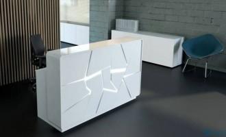 Banque d'accueil lumineuse plateau en verre - Devis sur Techni-Contact.com - 1