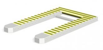 Convoyeurs de palettes à rouleaux libres en 2 parties - Devis sur Techni-Contact.com - 1