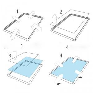 Cadre à coller sur vitrine - Devis sur Techni-Contact.com - 3