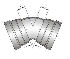 Coude ALPINAL à joint verrouillé UNIVERSAL Vi DN 80 à 300 - Devis sur Techni-Contact.com - 1