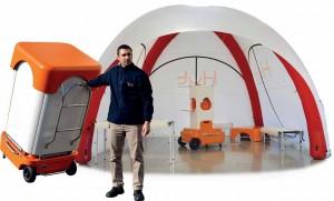Abri autonome gonflable tout en un - Devis sur Techni-Contact.com - 2