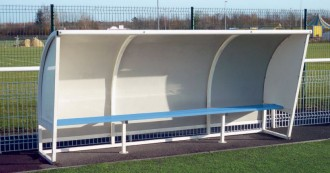 Abri de touche football en aluminium - Devis sur Techni-Contact.com - 1