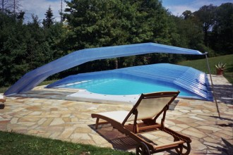 Abri piscine bas - Devis sur Techni-Contact.com - 1