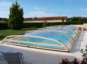 Abri pour piscine bas télescopique - Devis sur Techni-Contact.com - 4