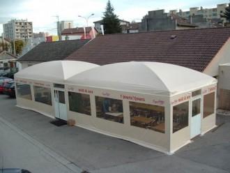 Abri terrasse restaurant à toile aérée - Devis sur Techni-Contact.com - 3